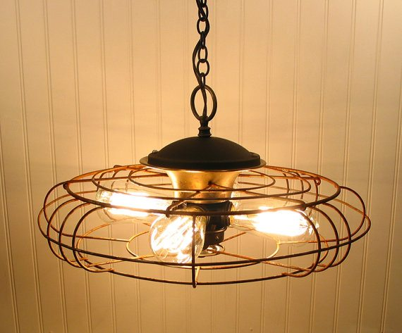 Vintage Fan Light Upcycle That