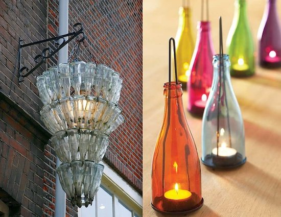 Glass Bottle Upcycles – 2 ideas!