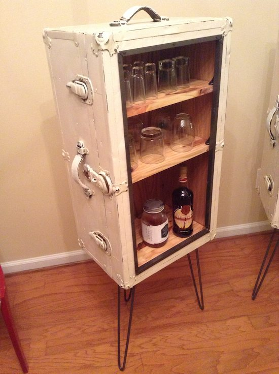 Steamer Trunk Liquor Cabinet
