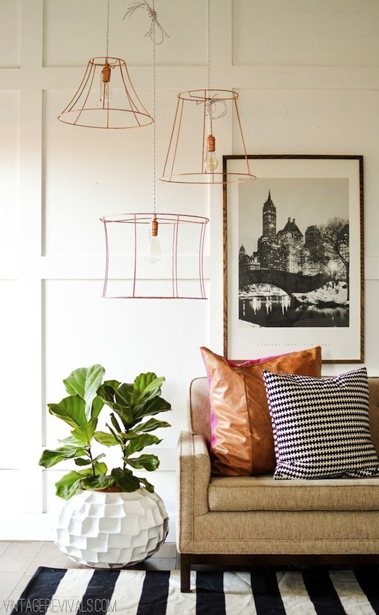 wire pendant light