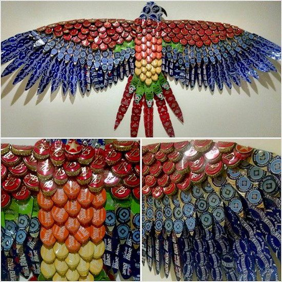 Bottle cap art upcycle that for Bottle top art projects