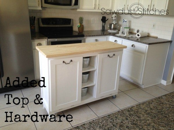 diy kitchen island made from a 5 garage sale cabinet