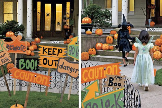 cardboard halloween decor
