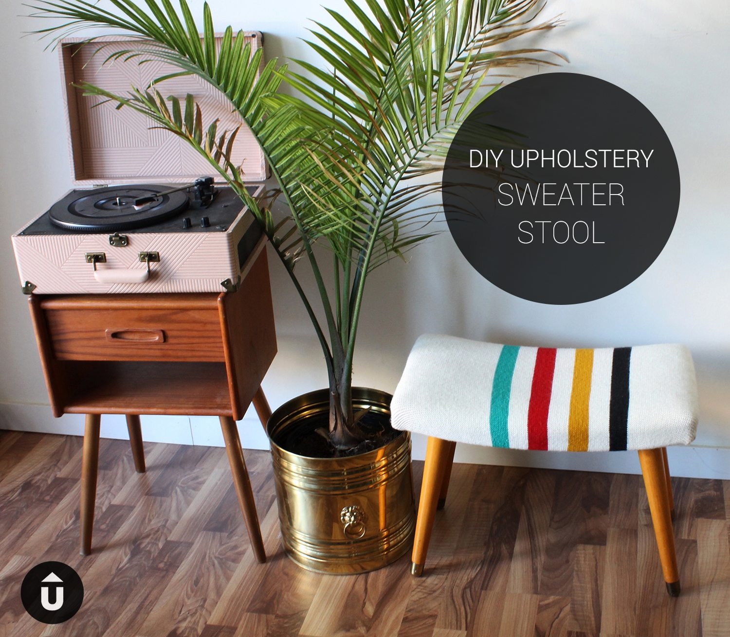 Sweater Stool Upholstery DIY