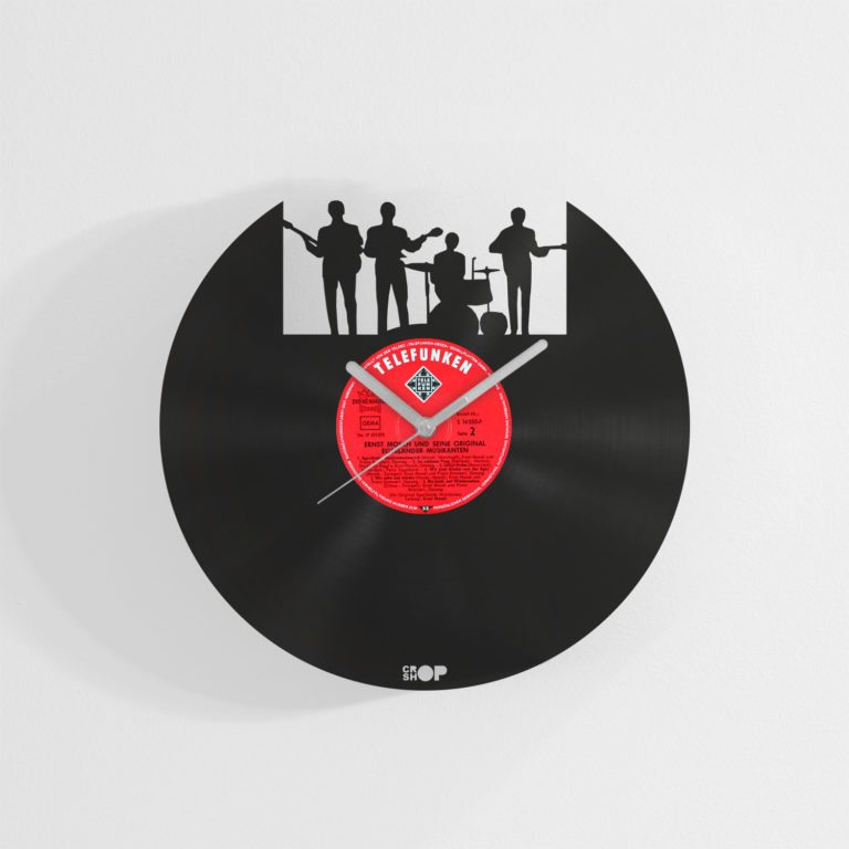 The Beatles wall clock from upcycled vinyl record (LP)