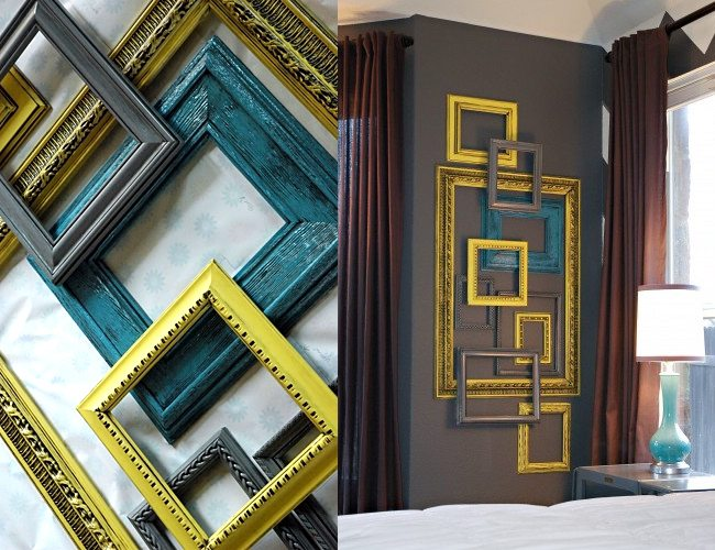 Repurpose Old Picture Frames - Layered Frames