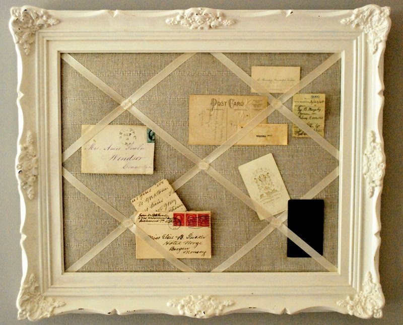 Repurpose Old Picture Frames - Message Board